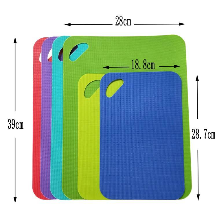Reasonable price PVC Dry Erase Pockets - Custom full-size cutting boards premium plastic chopping board easy to clean 4 colored reversible & eco friendly mats Amazon – Ruiyinxiang