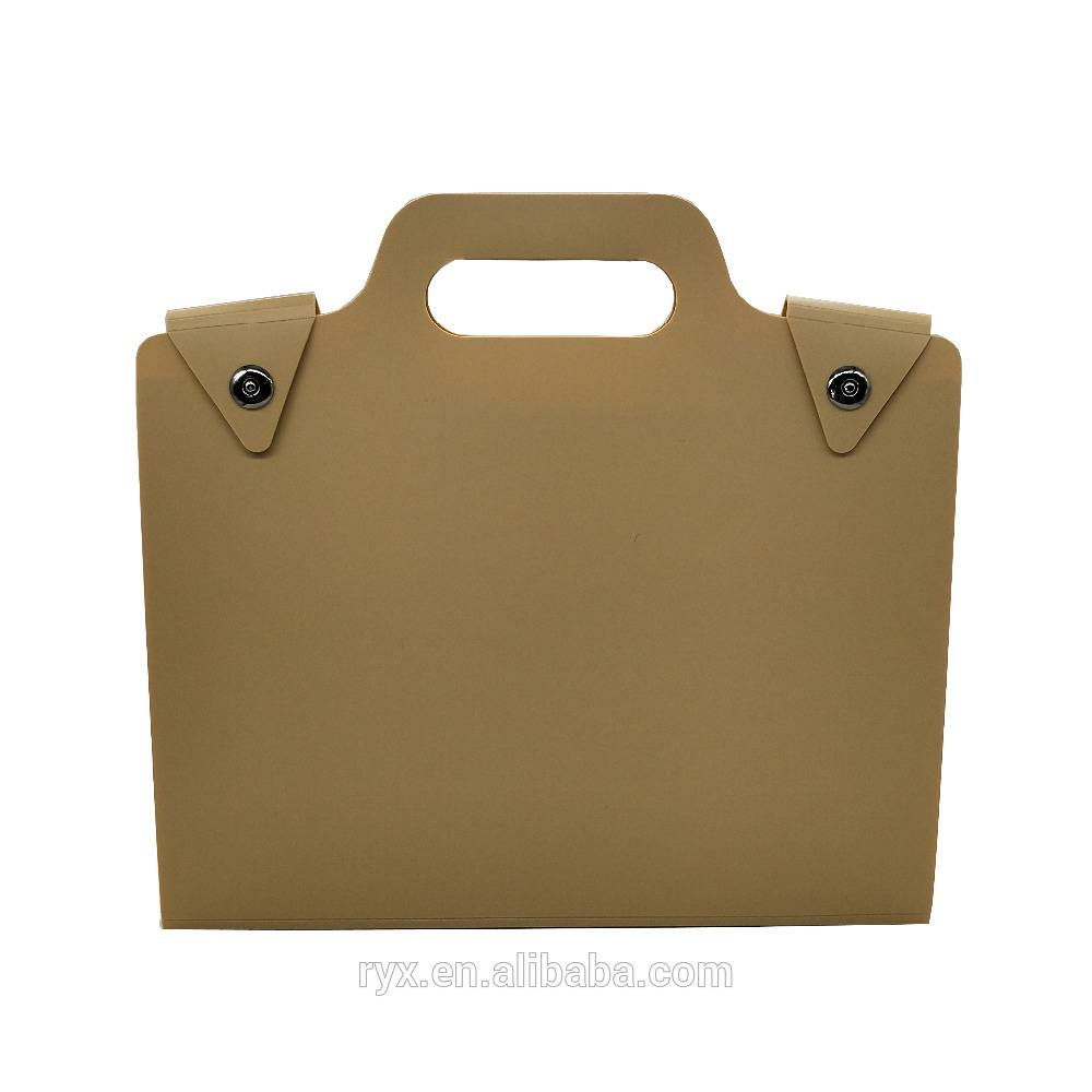 China OEM 80 Pockets Presentation Book - a4 paper filing expanding file folder with handle Magnetic button – Ruiyinxiang