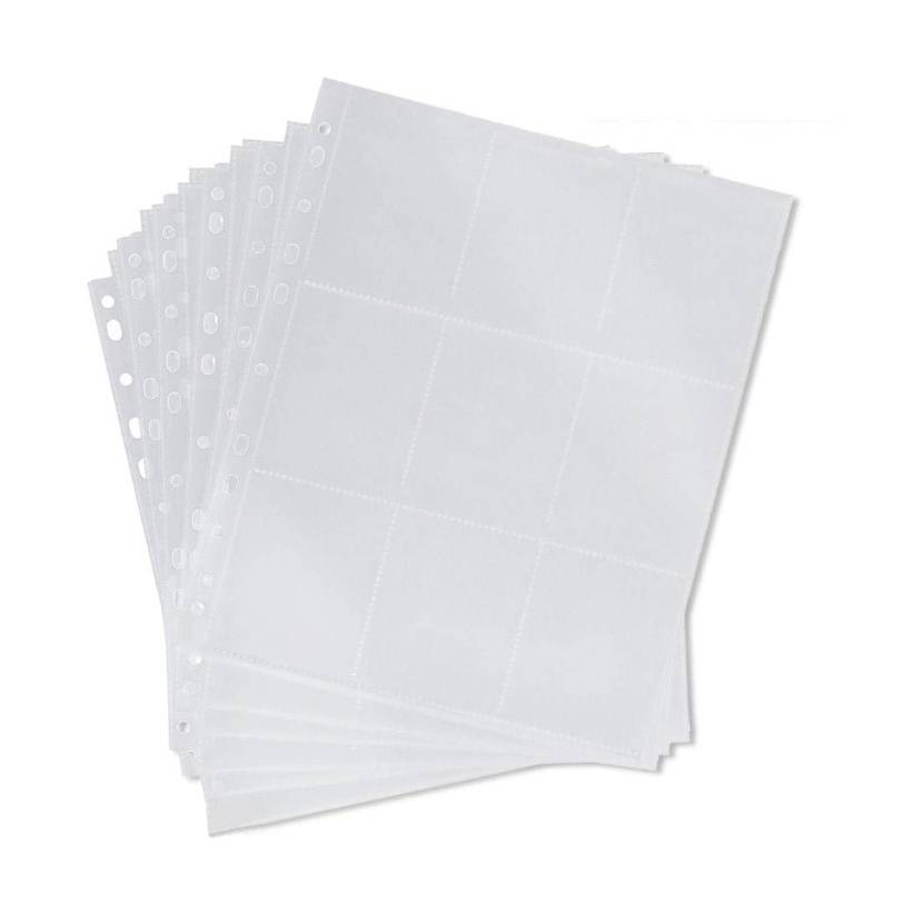 Top-Load 9-Pocket Plastic Trading Cards sheets Clear Baseball Card Sleeves for Binders