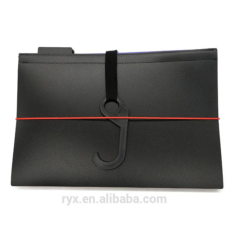 Office Stationery Expandable Hanging folder Plastic Document bag