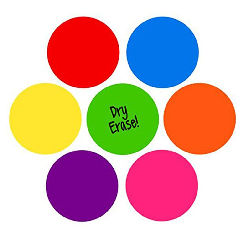 Factory source A4 Size Hardboard Clipboard - Colorful Set Dry Erase Circles White Board Marker Removable Vinyl Dot Wall Decal for Training School Teaching Progress – Ruiyinxiang