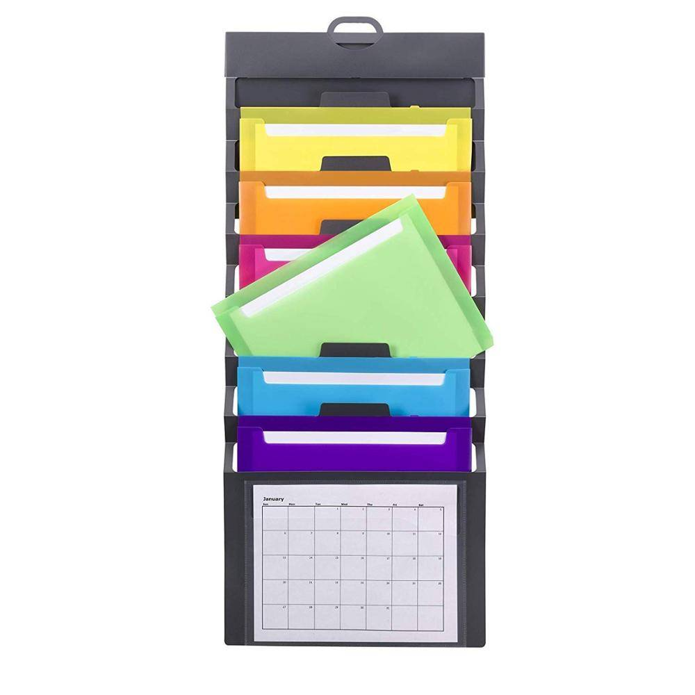 Popular Design for Office Stationery File Folder - Office letter size portable cascading wall organizer with 6 colored removable folders – Ruiyinxiang