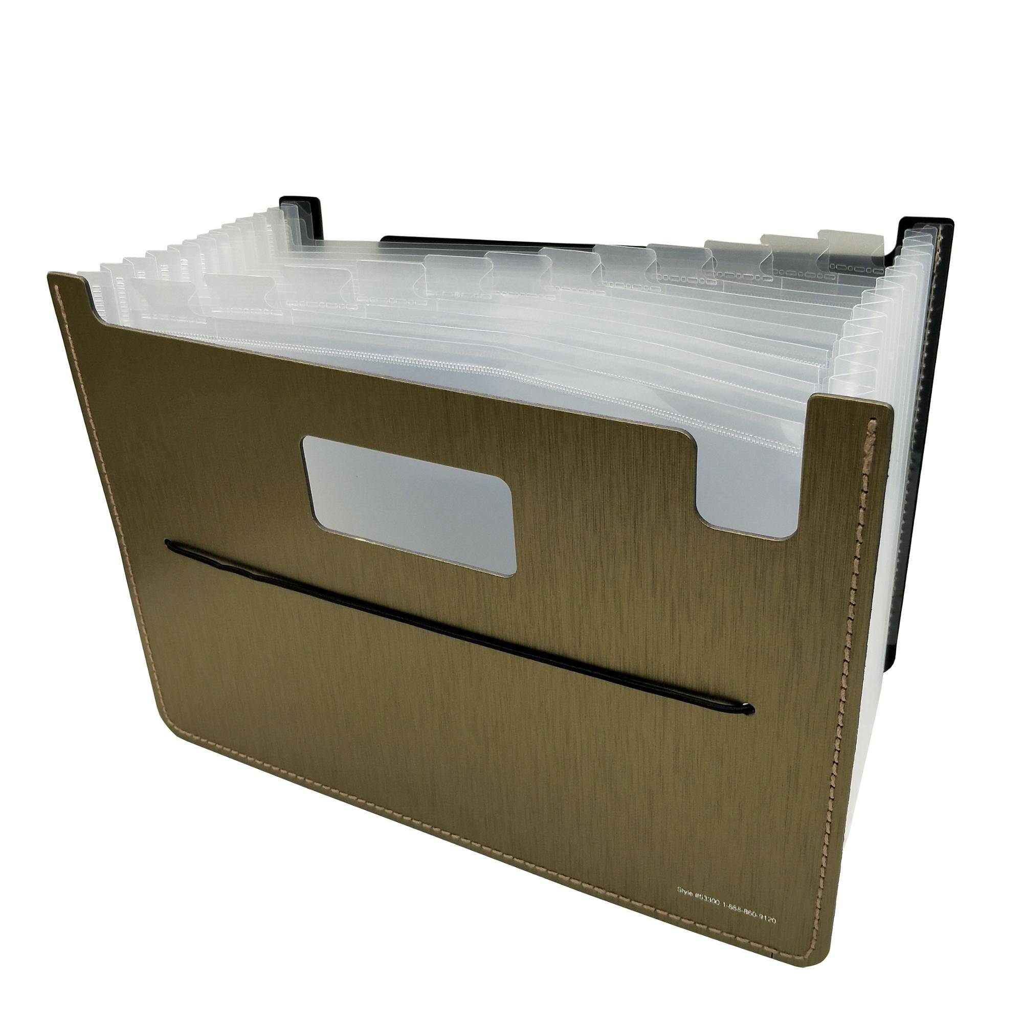 PP letter size expanding file a4 size accordion file folder with your own printing logo and design
