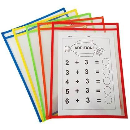"Wholesale Dealers of L Shape File Folder - Dry Erase Pockets (10"" x 13"") -Reusable & Oversized Clear Plastic Sleeves for Classroom Organization, Teacher or School Supplies – Ruiyinxiang detail pictures"
