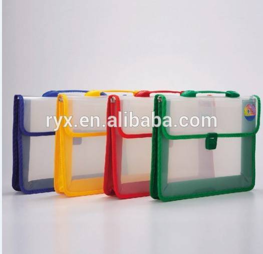 Factory making Expanding File folders - Transparent diagonal soft portable car portfolio – Ruiyinxiang
