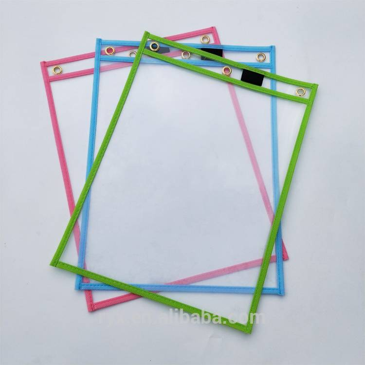 Office Supplies Reusable Dry Erase Pockets