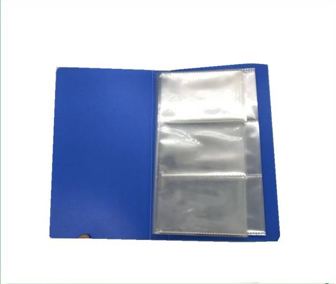 Factory OEM Office PP Translucent Display Book with 60 pockets File folder