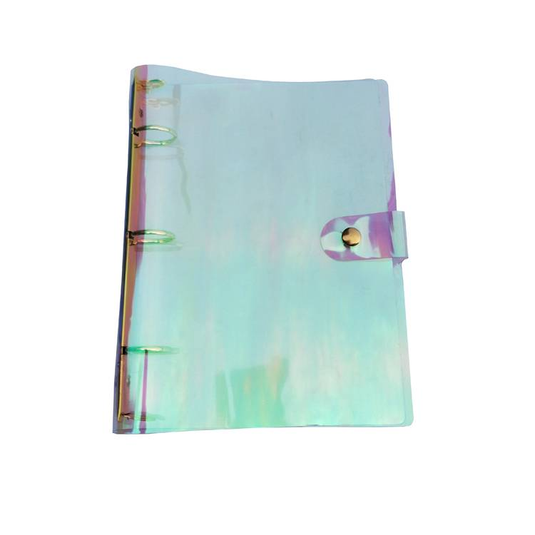 OEM Customized 3 Holes Sheet Protectors - A5 Rainbow Holographic Clear Soft Transparent PVC Binder Planner Agenda Shells 3-Ring Loose Leaf Notebook Paper Refill Folder – Ruiyinxiang