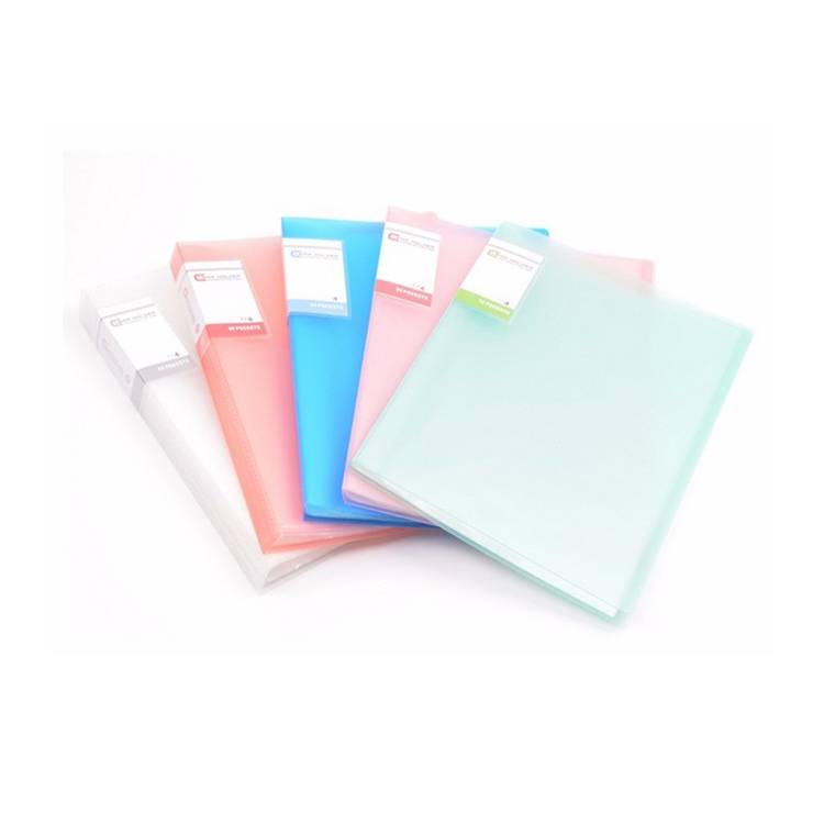 Custom file folder letter size assorted colors presentation display book a4 100 pockets display book from China supplier