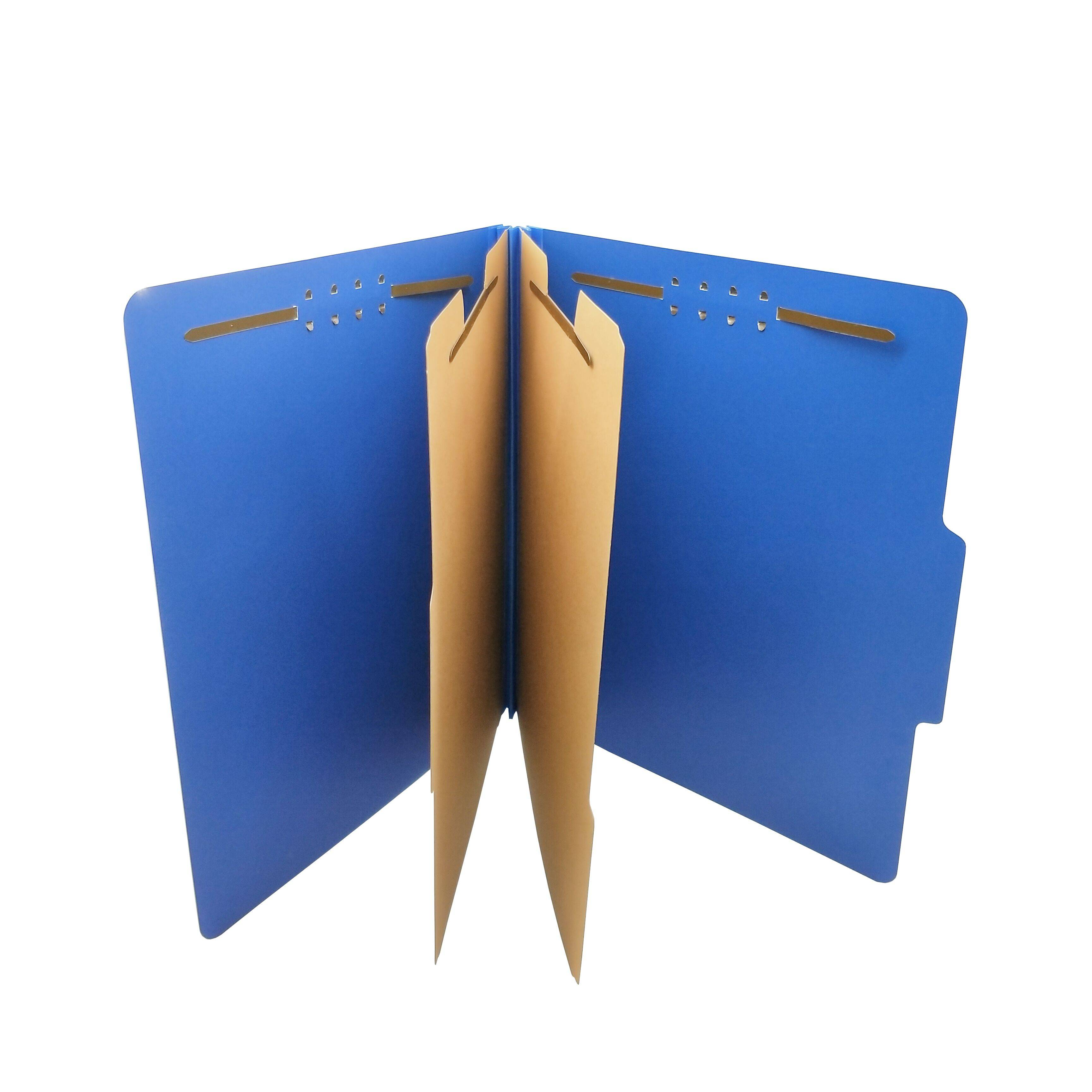 Hot Sale Product Pressboard Classification File Folder with 6 Fasteners 2 Dividers