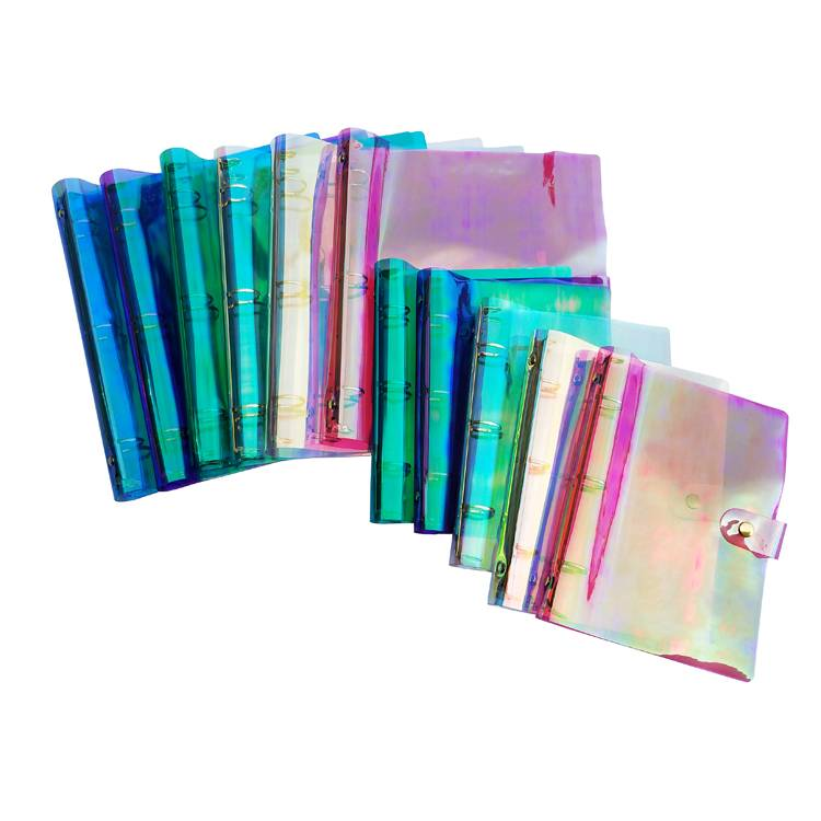 Fixed Competitive Price A4/A5/A3/B5 Size Sliding Bar Report Covers - 3 Ring Rainbow Round Ring Binders Snap Button Closure Loose Leaf Folder Colorful Soft PVC Notebook for Ring-Bound Planner Pages – Ruiyinxiang