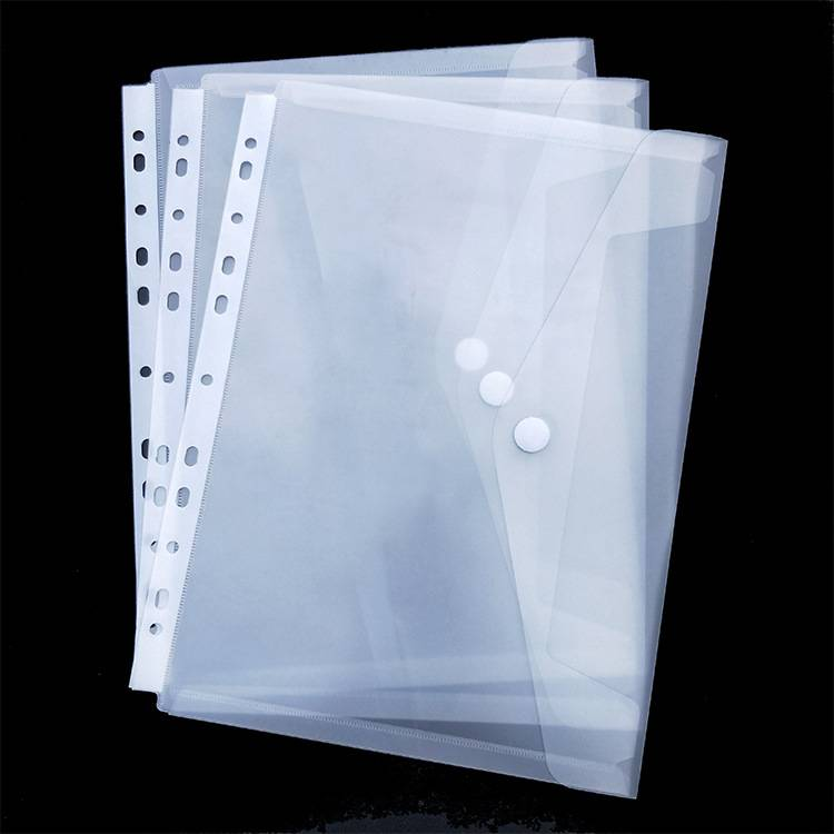 High Quality Pressboard Folders - Guangzhou factory cheap price document plastic clear document bag with 11 holes for ring binder/ lever arch file folder – Ruiyinxiang