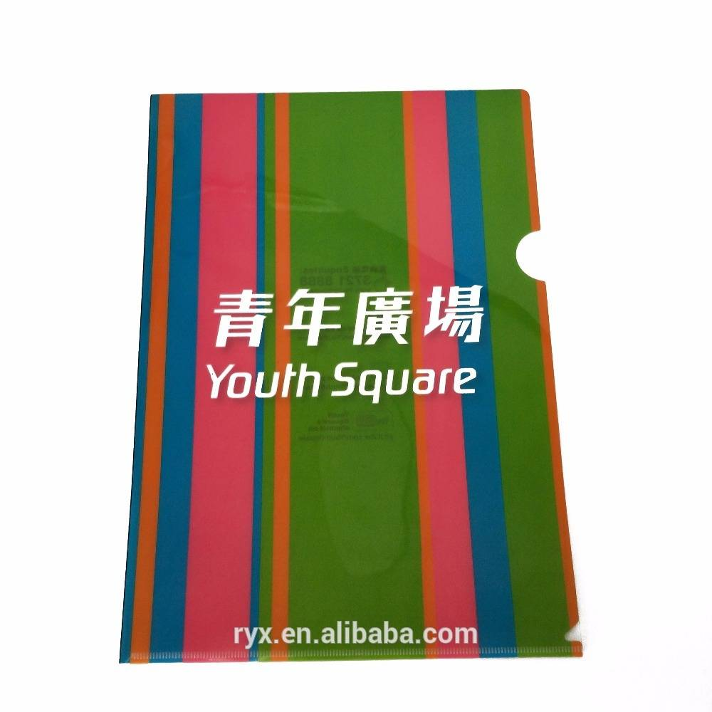 OEM Factory for 60 Pockets Presentation Book - Office stationery customized A4 L shape folder clear office size plastic pp file folder – Ruiyinxiang