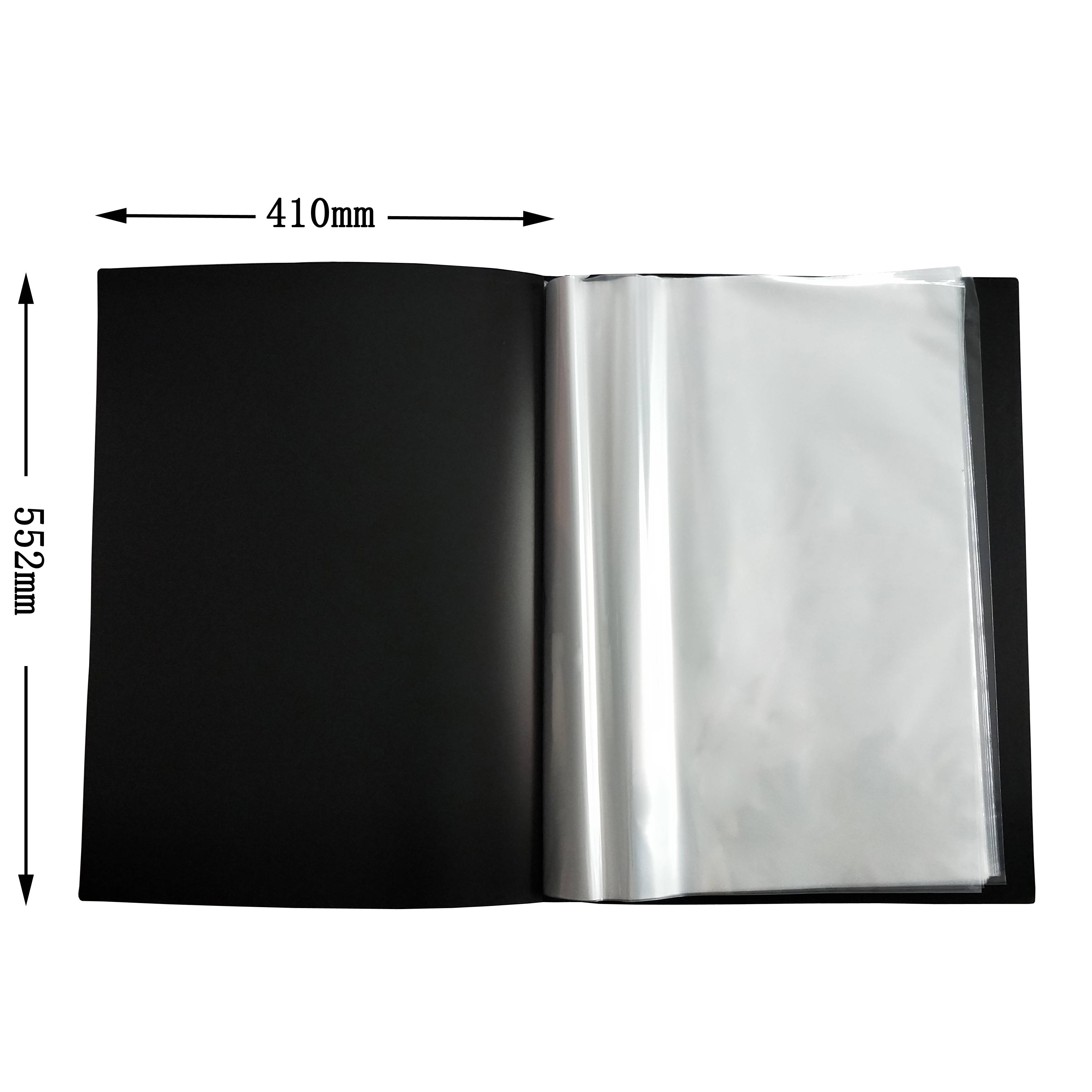 26 Pocket Protector Presentation File Folder A1 size Display Book Clear Sheets for Report Sheets,Artworks,Music Sheets