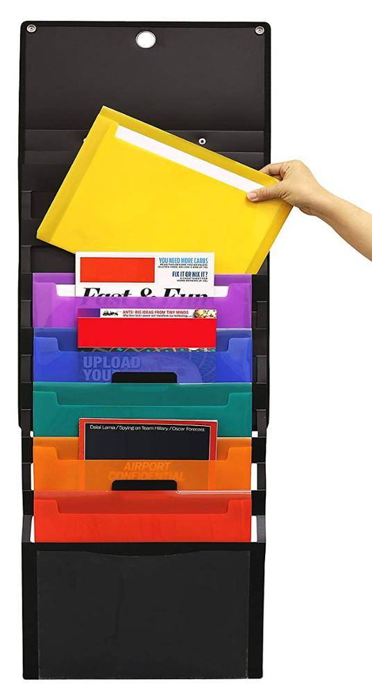 "Super Lowest Price 15""X11""X3"" Fireproof Document Bag - Office letter size portable cascading wall organizer with 6 colored removable folders – Ruiyinxiang"