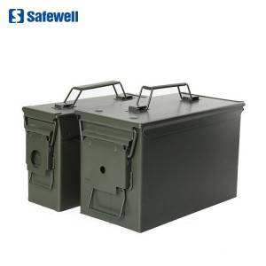 Safewell AMMO 3050 Army Green Bullet Waterproof Metal M2A1 Gun 50 And 30 Ammo Can Tool Box