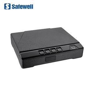 Safewell P2ED Akses Gancang Biometric Fingerprint Security Code Hand Gun Safe Box