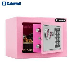 Safewell 17EF Pink Mini Amazon Hot Sell Electronic Money Security Safe Box