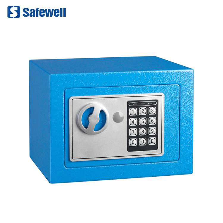 Safewell 17EF Mini Wall-ma Style Digital Electronic Code Metal Steel BoxʻoʻAbesaloma Nānā '