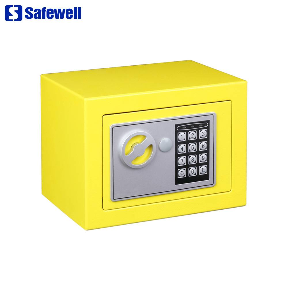 OEM Supply Sentry Pistol Safes - Best Price on China Hotel Digits Security Safe Box, with Knob to Access, 3-8 Code Combination Electronic Keypad, Mini Size Deposit Box – Safewell detail pictures