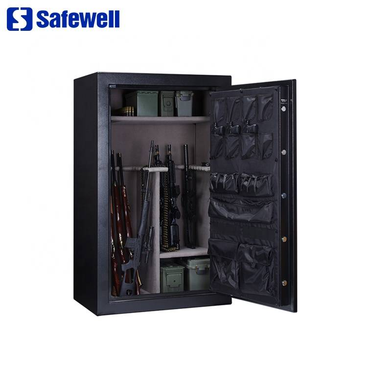 Safewell R30 promotional lock fireproof mechanical rifles and shot gun safe box