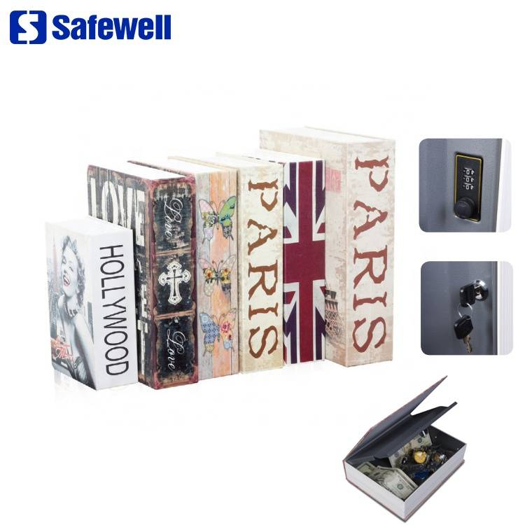 Safewell Most Popular Cheap RW802B Hidden Diversion Secret Book Safe box with   And Combination