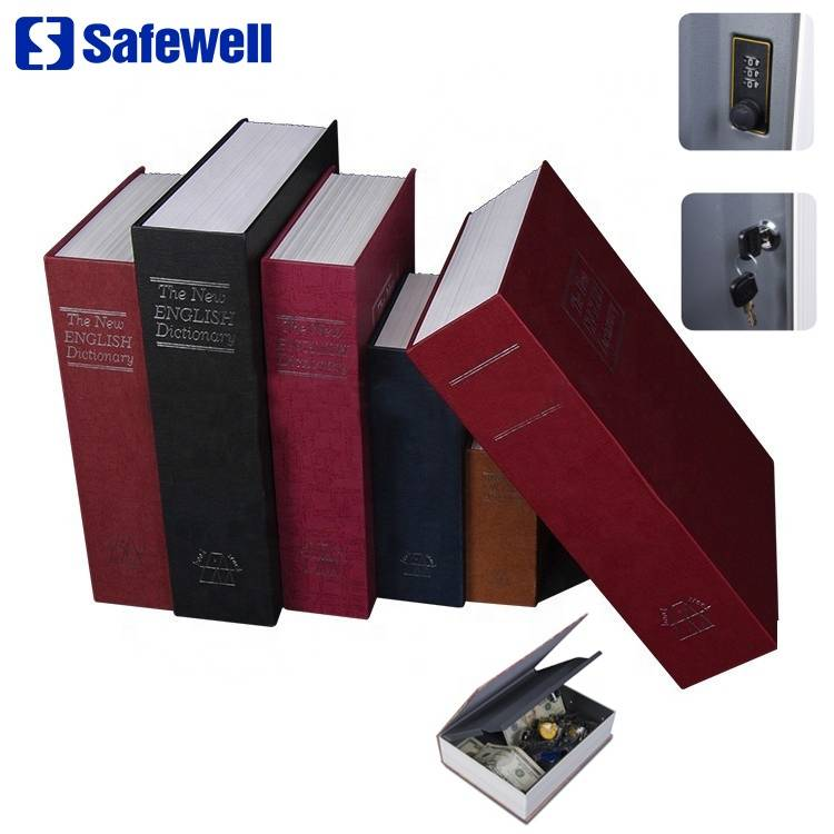 2017 New Style Mini Home Use Digital Lock Safe - Safewell RW-801A wholesale Secret Hidden Metal Dictionary Book safe box for Home and Office – Safewell