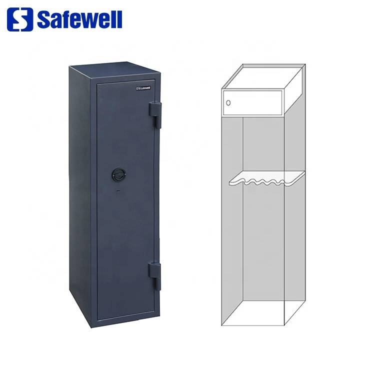 Safewell WF145-5 VDMA American Reliable Hidden Key Lock Safe Gun Box For 5 Guns