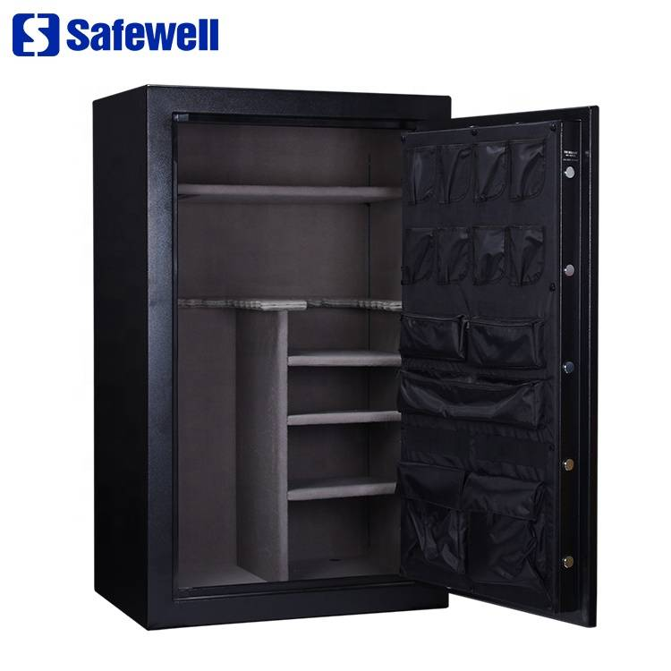 Super Lowest Price Square Metal Cash Deposit Box - Safewell R30 promotional lock fireproof mechanical rifles and shot gun safe box – Safewell detail pictures