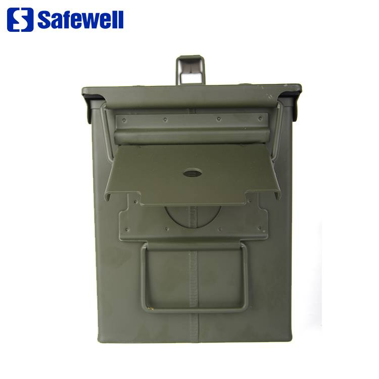 China wholesale Mini Lock Security Safety Box For Hotel - Safewell Army Green Military Style 50 Cal M2A1 m19a1 Metal Waterproof Fireproof Ammo Box – Safewell detail pictures