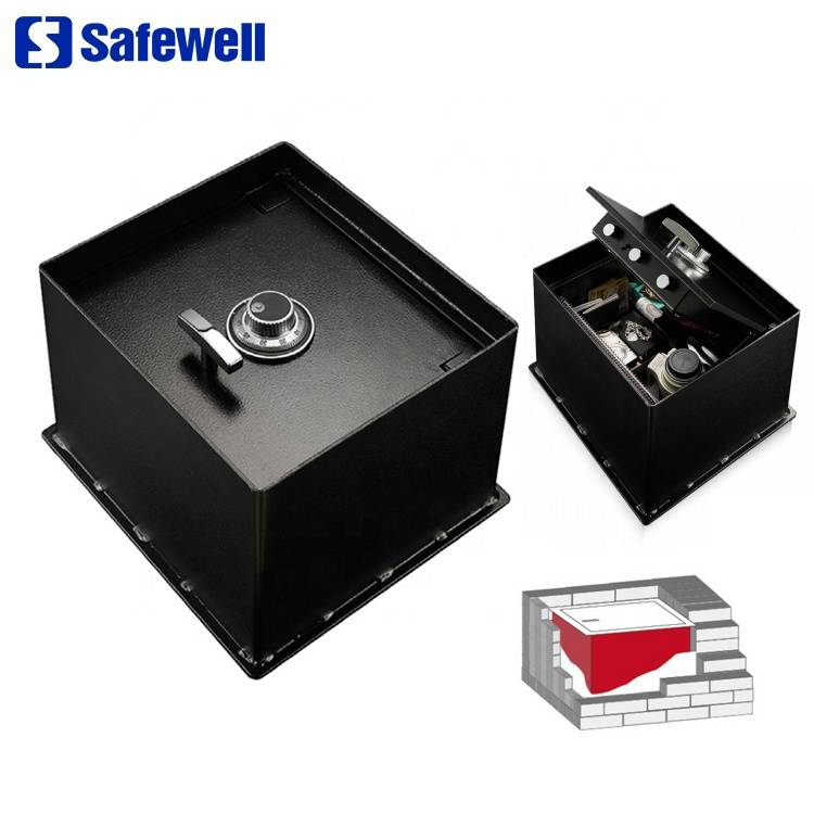 Factory Outlets Metal Key Lock Cash Box - Safewell FS01 Antique Durable Top Open Hidden Mechanical Lock Home Steel Floor Mounted Safe Box – Safewell