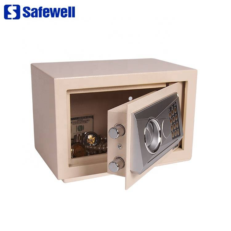 Manufacturer of Wall Safe - Cheap ce cash iron black digital  safe box – Safewell detail pictures