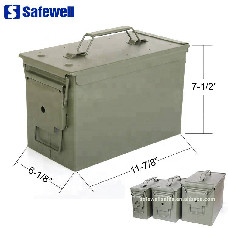 Manufacturing Companies for Dial Combination Lock Fireproof Safe Box - Safewell 50 Cal Metal Fireproof Ammo Box 50 for Gun Safe – Safewell
