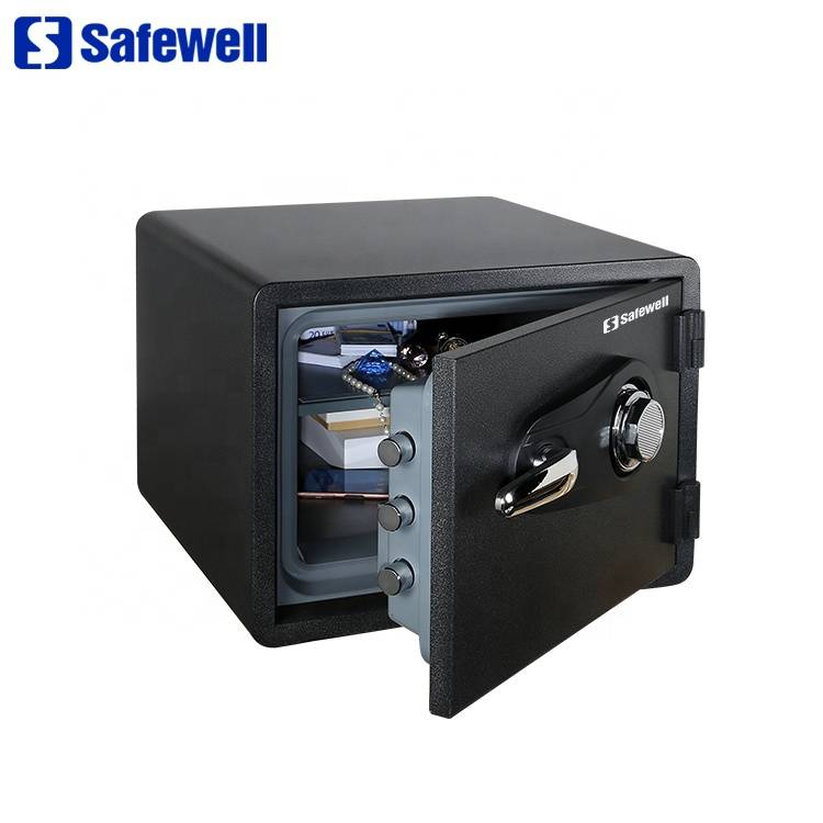 Factory wholesale Ningbo Tigerking Safe - Safewell SWF1418C small metal cheap fireproof safe box – Safewell