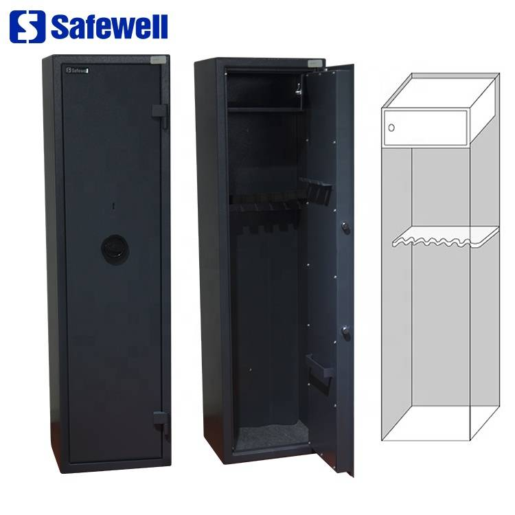Safewell WF145-7 VDMA Wholesale Metal 7 Gun Capacity 2 Keys Gun Safe