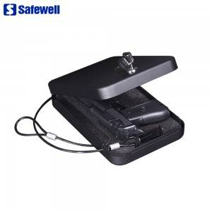 Safewell PC-95K Mechanical Key Lock Portable Pistol Safe Box