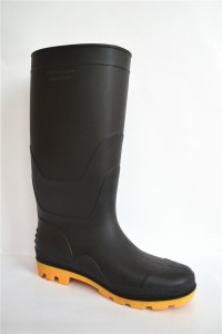 Good quality pvc working safety  steel toe cap gumboots men rubber rain boots