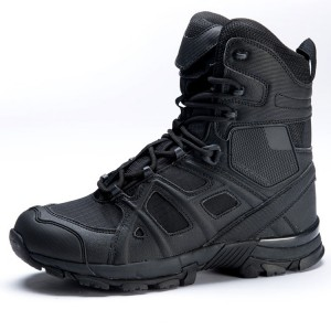 Leather military  safety  combat desert swat boots