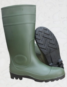 PVC Rain Shoes With Steel Head Rain Boots FB-E0106