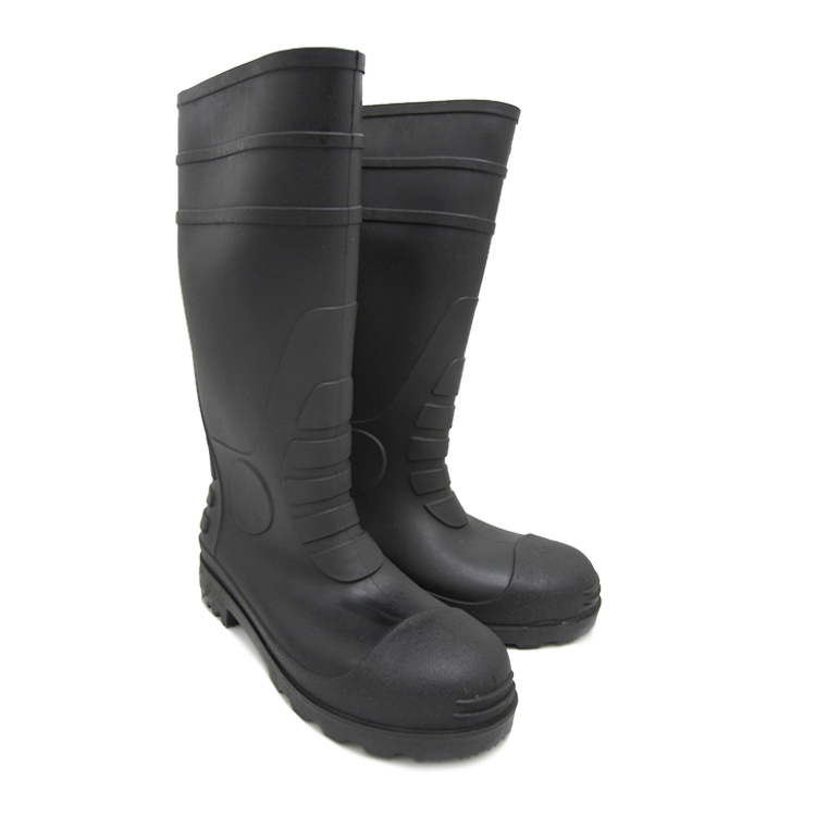 2019 Hot Sale Industrial Safety PVC Rain Shoes With High Quality Steel Head Rain Boots FB-E0101 Featured Image