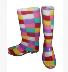 women waterproof thigh high latex rubber rain boots safety shoes for lady FB-E0202