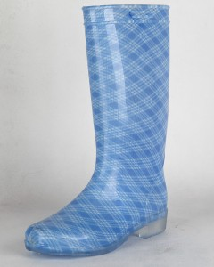 New Design Fashionable Sexy fancy Printing With Buckle Wide Leg Colorful Women PVC gumboots