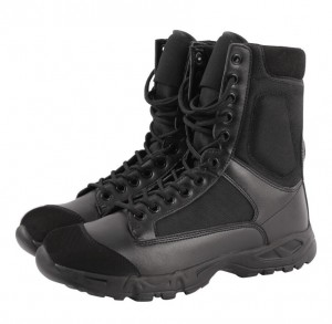 China OEM black 8 inch waterproof security amry military boot