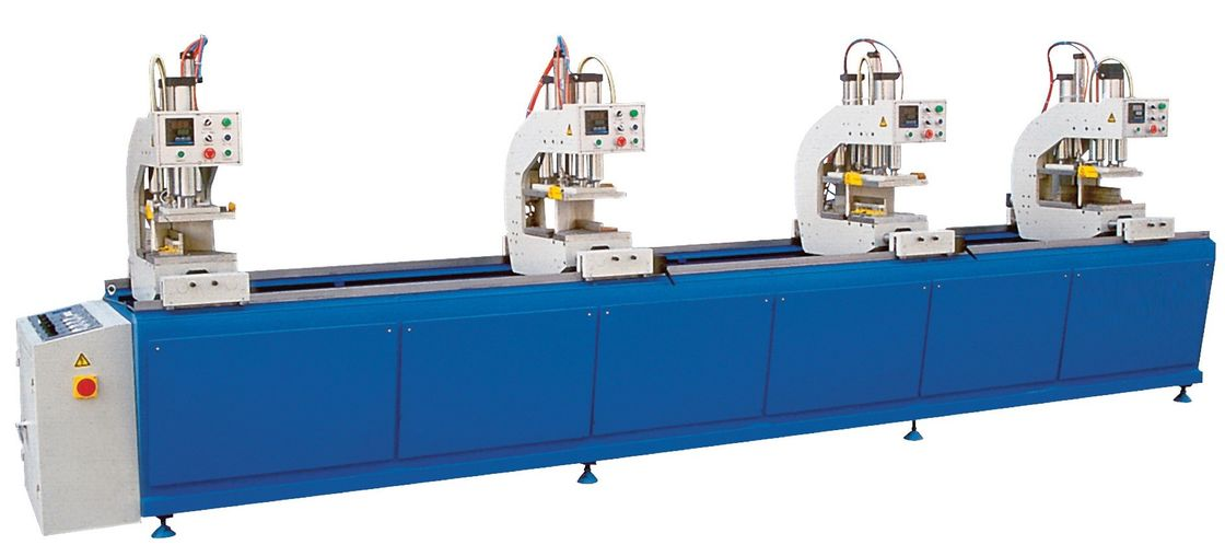 Blue Auto UPVC Window and Door Machinery Four Head Welding Equipment Featured Image