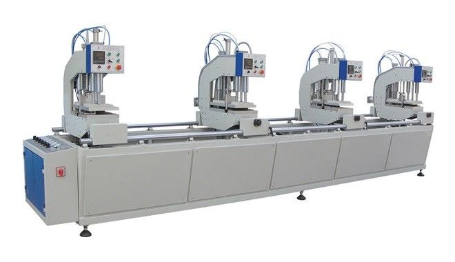 Blue Auto UPVC Window and Door Machinery Four Head Welding Equipment