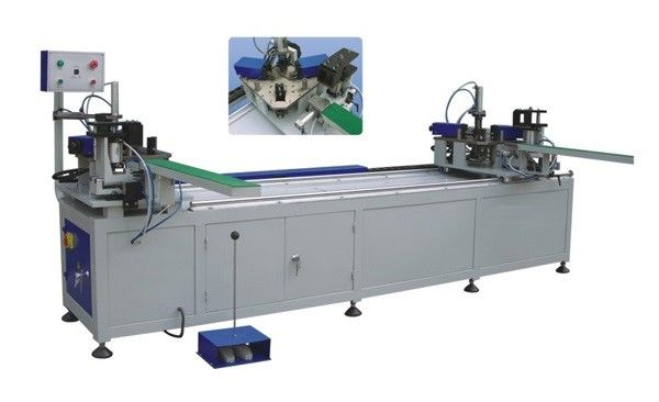 Door Fabrication Aluminium Window Machinery , Two Point Crimping Machine