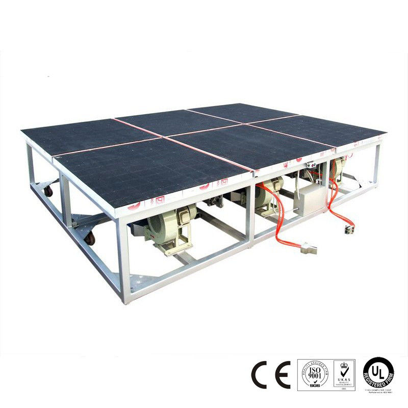 2600x2000mm Air Float Glass Breaking Table Pneumatic Control System