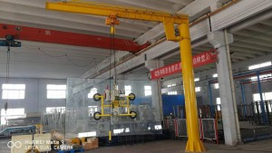 Column Suspension Glass Unloading Crane,Glass Unloading Crane,Wall Fixed Suspension Crane,360° Roating Glass Unloading Crane