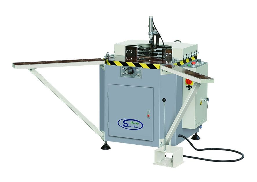 Single Head Aluminum Window Corner Crimping Machine , Hydraulic Crimping Machine