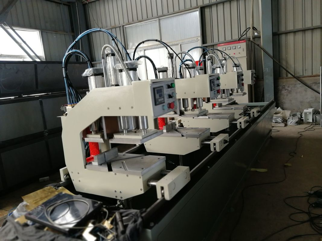Double Head Vinyl Window Machine , UPVC Window Making Machine Custom Made